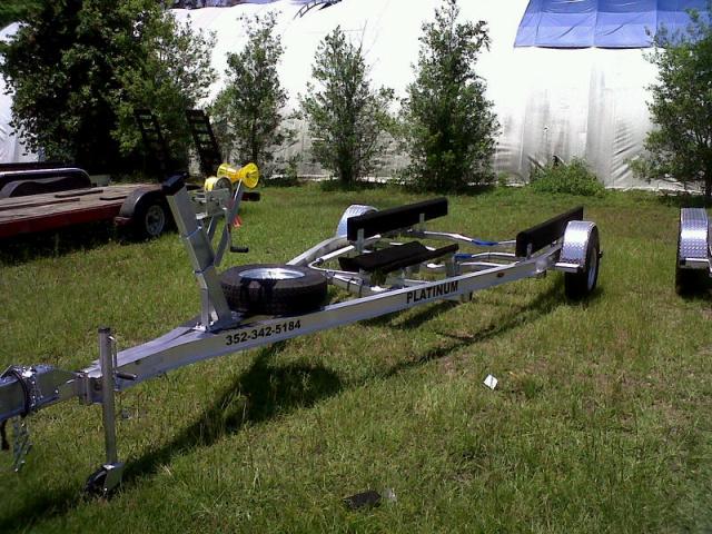 16 Single Axle Trailer : Custom built aluminum boat trailers single axle